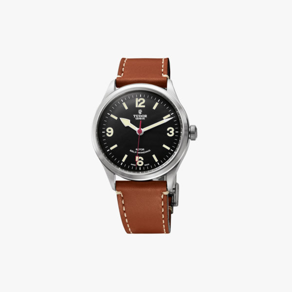 Montre Tudor Heritage Ranger M79910 Acier Black Leather Brown Maison De  Greef 1848