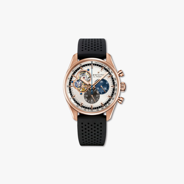 Montre Zenith Chronomaster El Primero Open 18 2040 4061 69 R576 Or Rose Caoutchouc Maison De Greef 1848