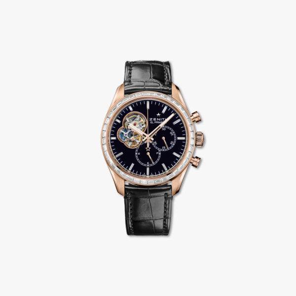 Chronomaster El Primero Open in rose gold, set with diamonds