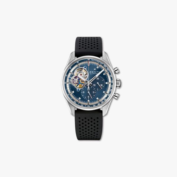 Montre Zenith Chronomaster El Primero Open Bleu 03 20416 4061 51 R576 Acier Maison De Greef 1848