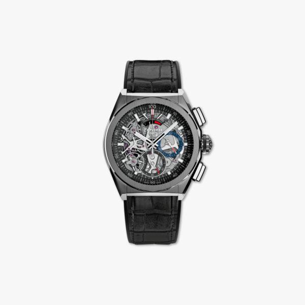 "Automatisch uurwerk Chronograaf ""El Primero 21"" in geborsteld titanium"