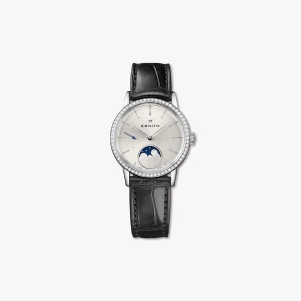 Montre Zenith Elite Lady Moonphase 33 16 2330 692 01 C714 Acier Diamants Maison De Greef 1848