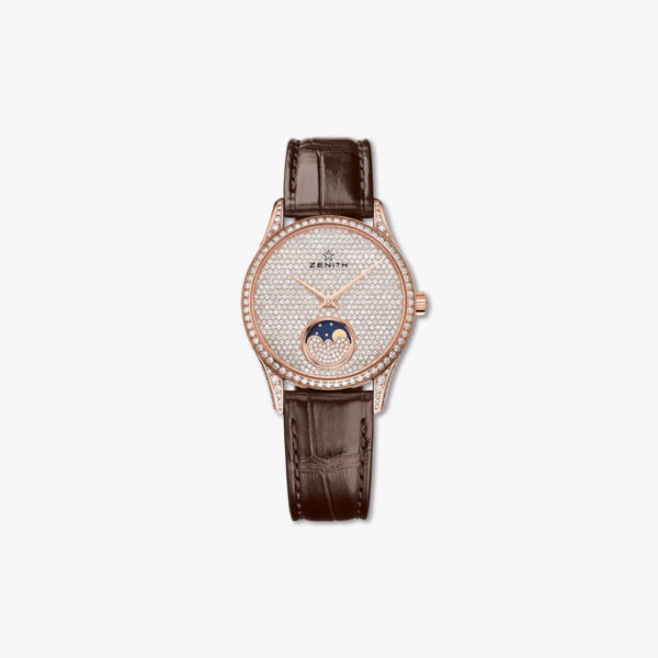 Montre Zenith Elite Lady Moonphase 33 22 2310 690 79 C713 Or Rose Diamants Maison De Greef 1848
