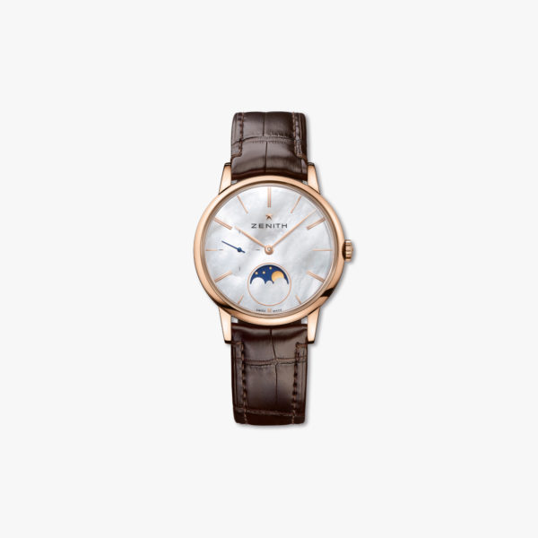 Montre Zenith Elite Lady Moonphase 36 18 2320 692 80 C713 Or Rose Nacre Maison De Greef 1848