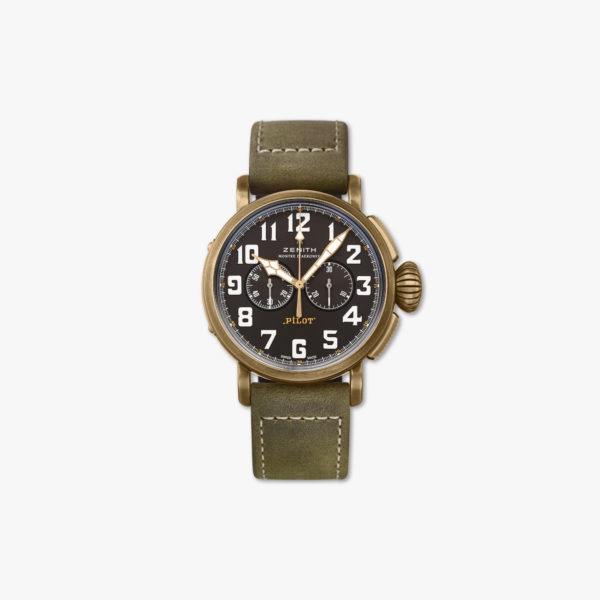 "Aviator watch, automatic, bronze Chronograph ""Type 20"""