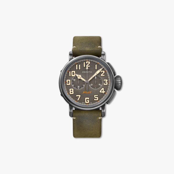 Montre Zenith Pilot Type 20 Chronograph Ton Up 11 2430 4069 21 C773 Aged Steel Maison De Greef 1848