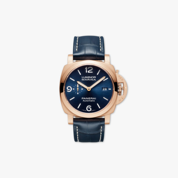 Panerai Luminor Marina Goldtech Sole Blu 44Mm Pam01112 Front