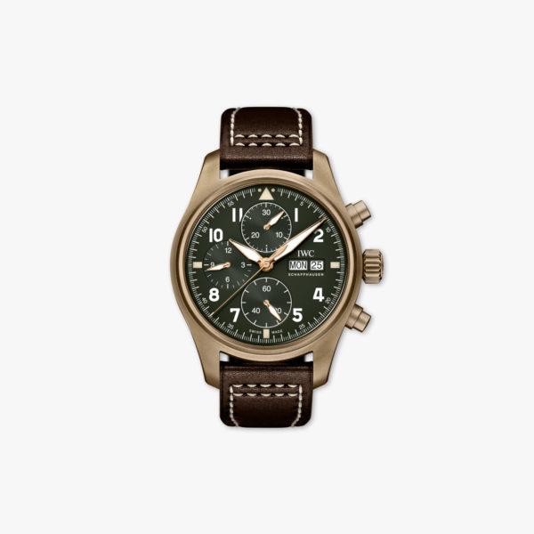 Uurwerk Iwc Pilots Watches Spitfire Chronograph Iw387902 Brons Groen Maison De Greef 1848