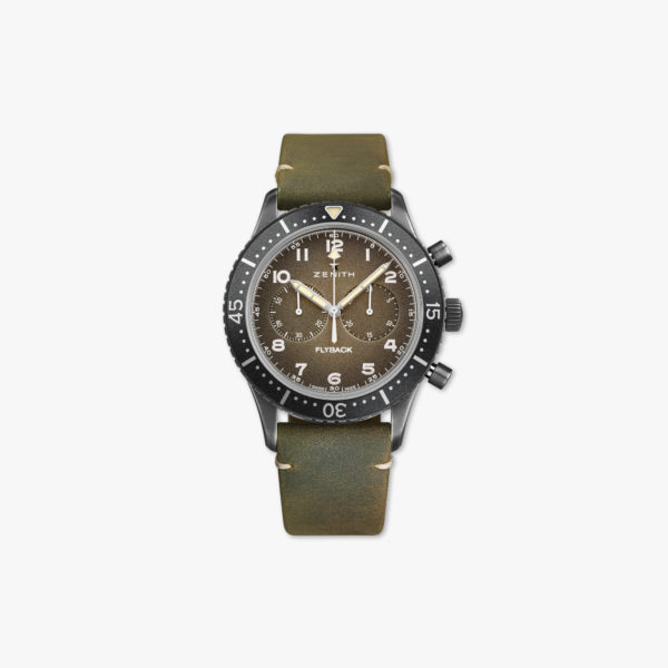 Pilot Cronometro Tipo CP-2 Flyback in verouderd staal