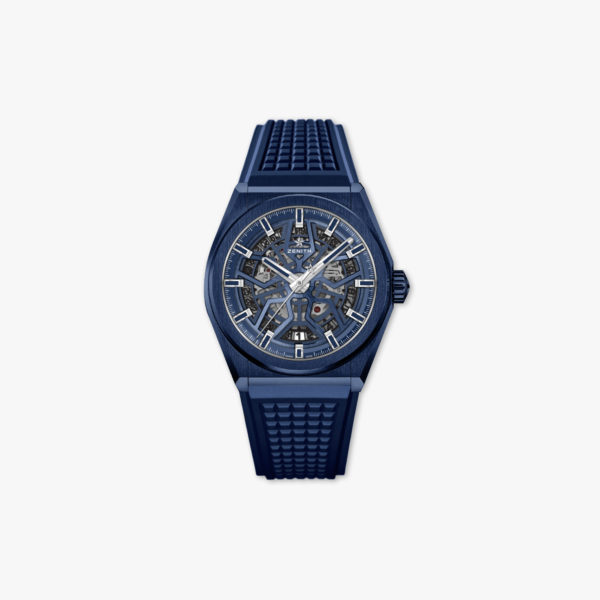 Defy Classic in blue ceramic