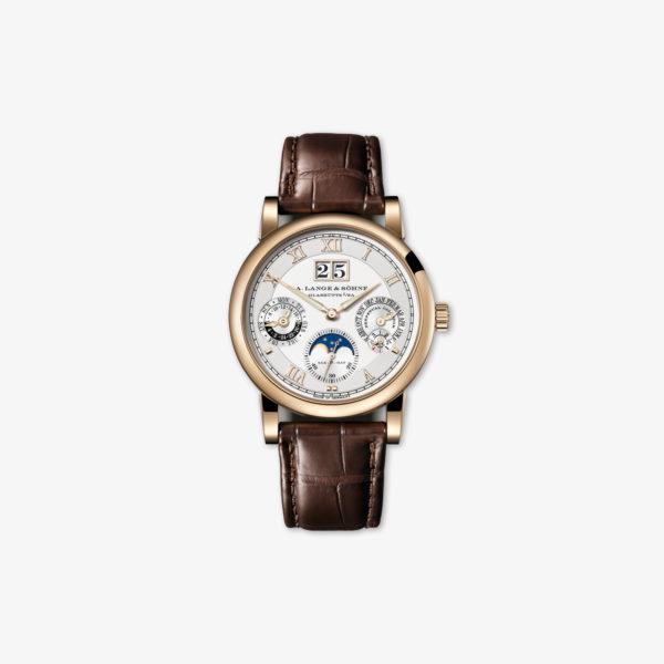Watch A Lange Soehne Langematik Perpetual Honeygold 310 050 Honey Gold Perpetual Calendar Maison De Greef 1848