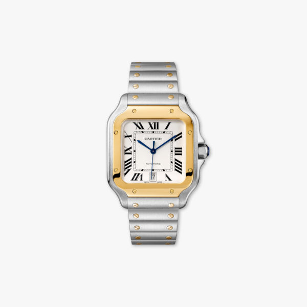 Watch Cartier Santos De Cartier Large Model W2 Sa0006 Yellow Gold Steel Maison De Greef 1848