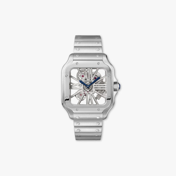 Watch Cartier Santos De Cartier Large Model Whsa0007 Steel Skeleton Maison De Greef 1848
