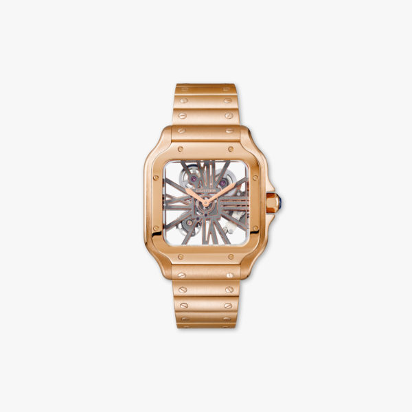 Watch Cartier Santos De Cartier Large Model Skeleton Whsa0008 Rose Gold Maison De Greef 1848
