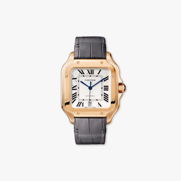 Watch Cartier Santos De Cartier Large Modele Wgsa0011 Rose Gold Leather Maison De Greef 1848