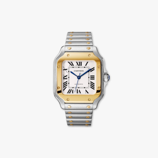 Santos de Cartier Medium Model in yellow gold and stainless steel
