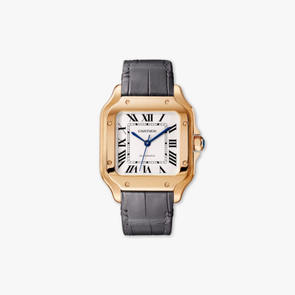 Watch Cartier Santos De Cartier Medium Model Wgsa0008 Rose Gold Leather Maison De Greef 1848