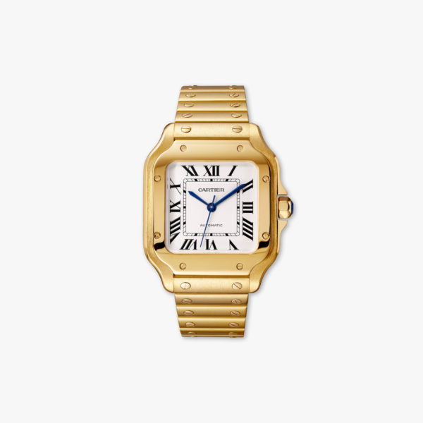 Watch Cartier Santos De Cartier Medium Model Wgsa0010 Yellow Gold Maison De Greef 1848
