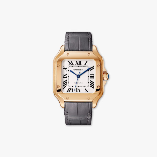 Watch Cartier Santos De Cartier Medium Model Wgsa0012 Rose Gold Leather Maison De Greef 1848
