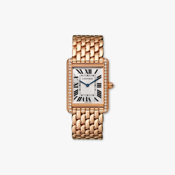 Watch Cartier Tank Louis Cartier Large Model Wjta0021 Rose Gold Diamonds Maison De Greef 1848