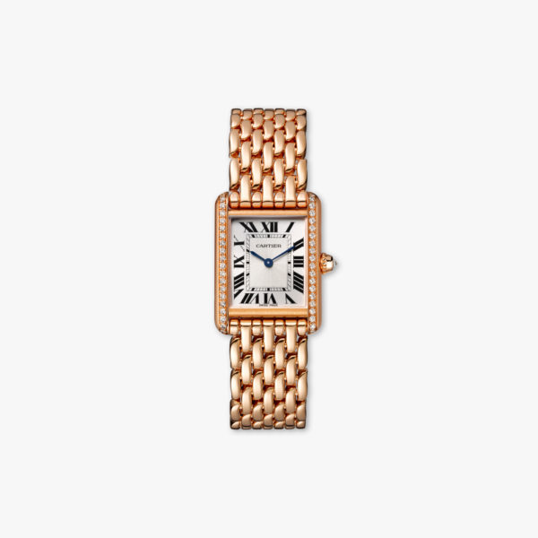 Watch Cartier Tank Louis Cartier Small Modele Wjta0020 Rose Gold Diamonds Maison De Greef 1848