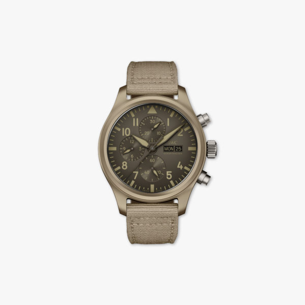 Watch Iwc Pilots Watches Chronograph Top Gun Edition Mojave Desert Limited Edition Iw389103 Ceramic Beige Maison De Greef 1848