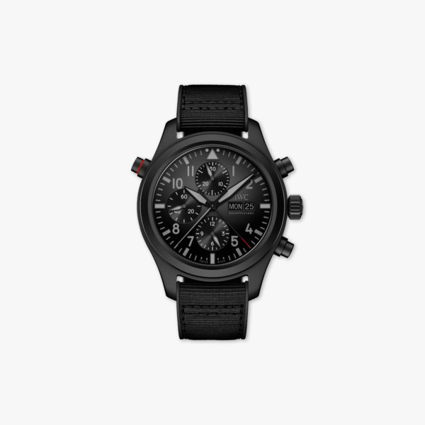 Watch Iwc Pilots Watches Double Chronograph Top Gun Ceratanium Limited Edition Iw371815 Ceratanium Black Maison De Greef 1848