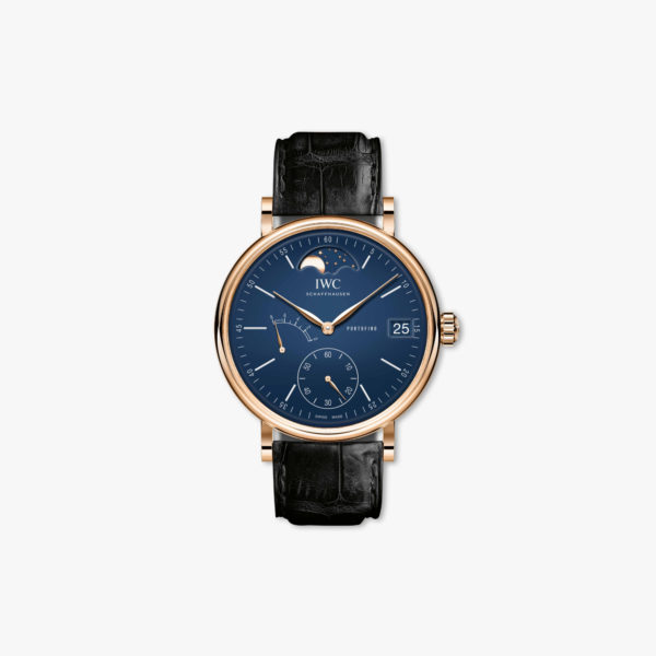 Watch Iwc Portofino Hand Wound Moon Phase Edition 150 Years Iw516407 Rose Gold Blue Maison De Greef 1848