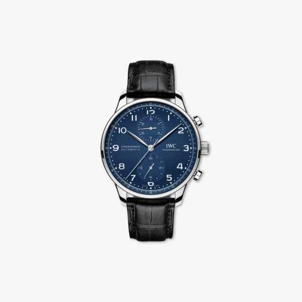 Watch Iwc Portugieser Chronograph Edition 150 Years Iw371601 Stainless Steel Blue Maison De Greef 1848