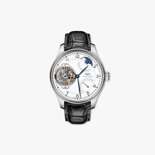 Watch Iwc Portugieser Constant Force Tourbillon Edition 150 Years Iw590202 Platinum White Maison De Greef 1848
