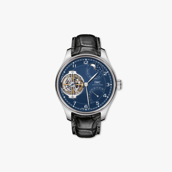 Watch Iwc Portugieser Constant Force Tourbillon Edition 150 Years Iw590203 Platinum Blue Maison De Greef 1848