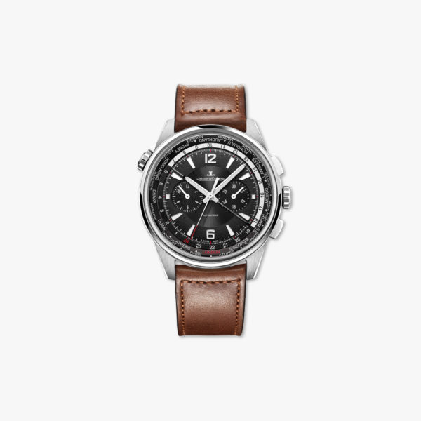 Watch Jaeger Lecoultre Polaris Chronograph Wt World Timer Q905T471 Steel Maison De Greef 1848