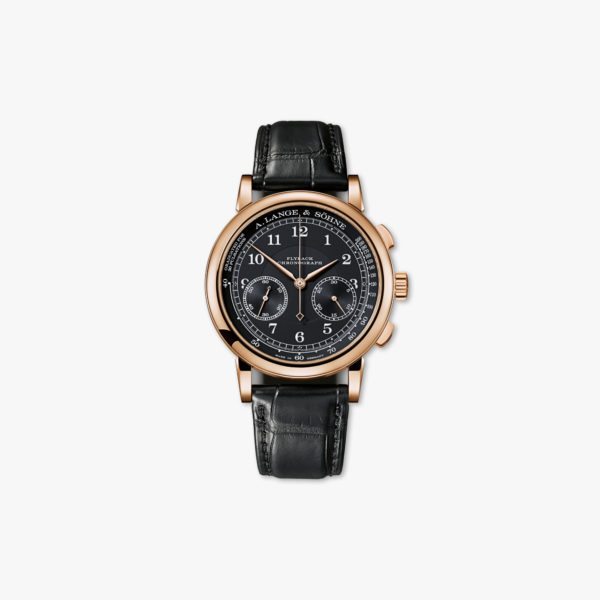 Watch Lange Sohne 1815 Chronograph 414 031 Rose Gold Black Maison De Greef 1848