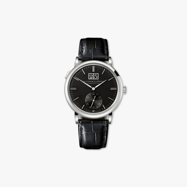 Watch Lange Sohne Saxonia Outsize Date 381 029 White Gold Black Maison De Greef 1848