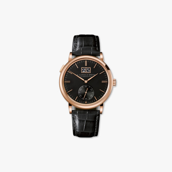Watch Lange Sohne Saxonia Outsize Date 381 031 Rose Gold Black Maison De Greef 1848