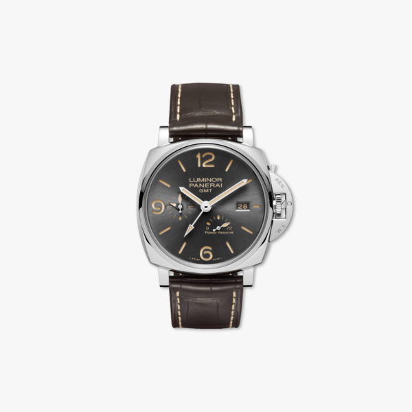 Luminor Due 3 Days GMT Power Reserve Automatic Acciaio - 45 mm in stainless steel