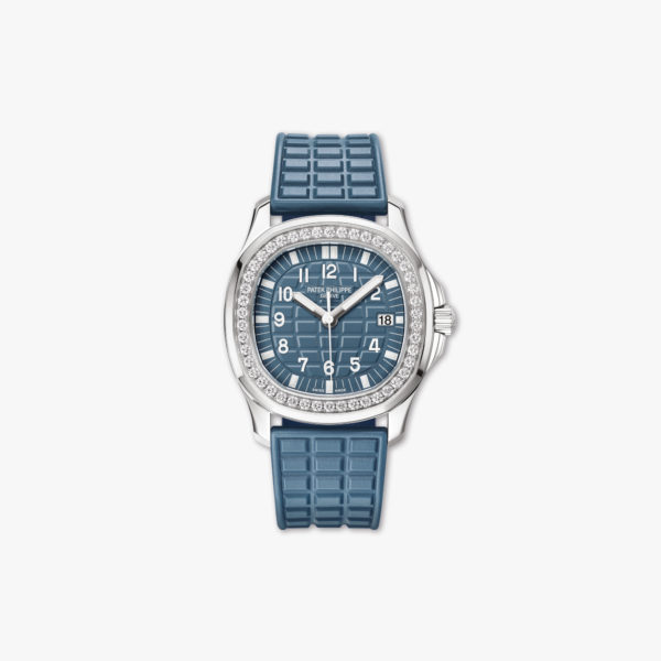 Watch Patek Philippe Aquanaut Luce Ladies 5067 A 025 Stainless Steel Diamonds Blue Maison De Greef 1848