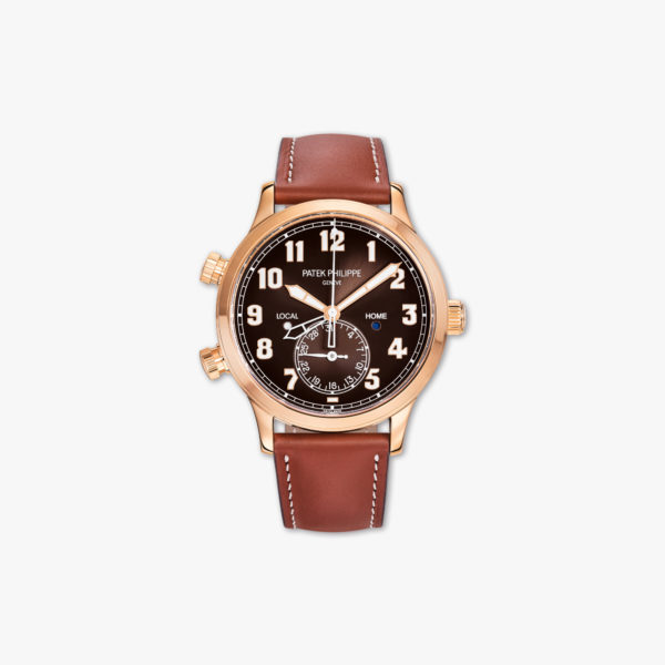 Calatrava Pilot Travel Time in rose gold