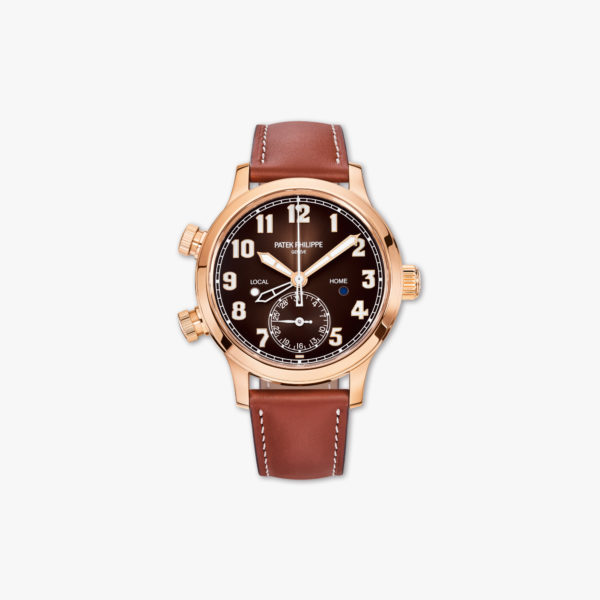 Watch Patek Philippe Calatrava Pilot Travel Time Ladies 7234 R 001 Rose Gold Maison De Greef 1848
