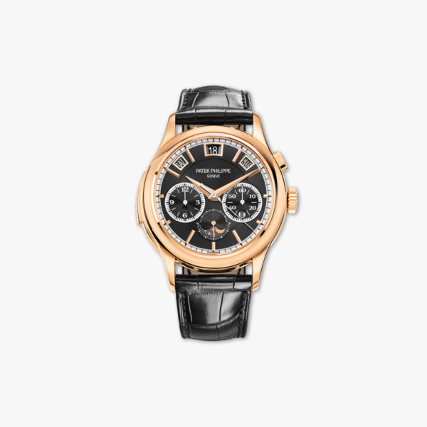 Watch Patek Philippe Grand Complications Minute Repeater Chronograph Perpetual Calendar 5208 R 001 Rose Gold Black Maison De Greef 1848