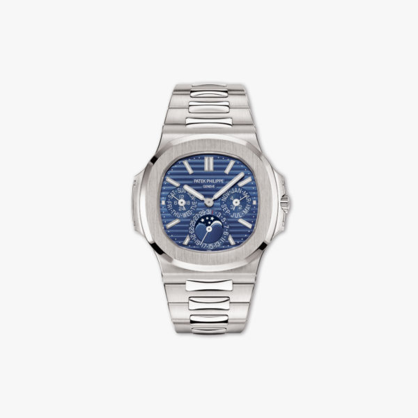 Watch Patek Philippe Nautilus Perpetual Calendar 5740 1 G 001 White Gold Blue Maison De Greef 1848