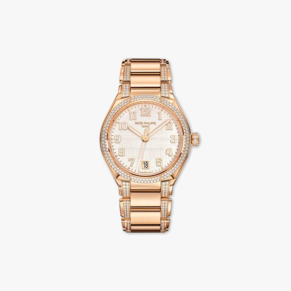 Watch Patek Philippe Twenty 4 7300 1201 R 001 Rose Gold Diamonds Silk Beige Maison De Greef 1848