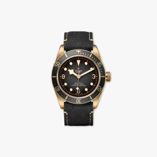 Watch Tudor Black Bay Bronze M79250 Ba 0001 Slate Leather Maison De Greef 1848