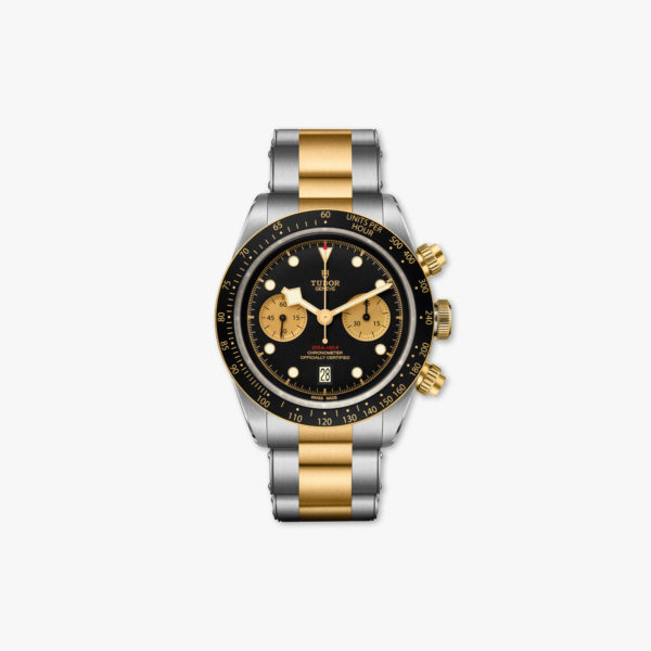 Watch Tudor Black Bay Chrono Steel Gold M79363 N 0001 Chronograph Black Champagne Stainless Steel Yellow Gold Maison De Greef 1848