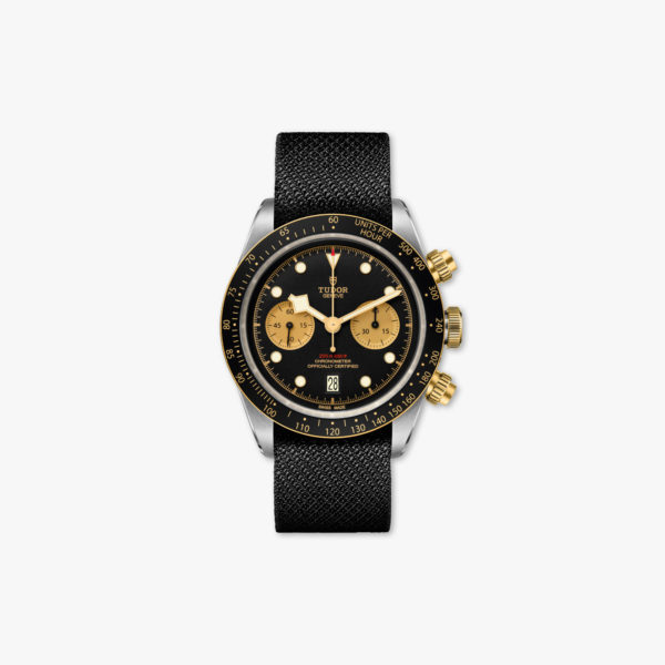 Watch Tudor Black Bay Chrono Steel Gold M79363 N 0003 Chronograph Black Champagne Stainless Steel Yellow Gold Tissue Maison De Greef 1848