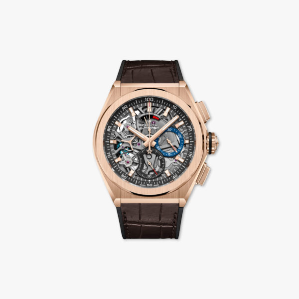 Watch Zenith Defy El Primero 21 18 9000 9004 71 R585 Rose Gold Chronograph Leather Maison De Greef 1848