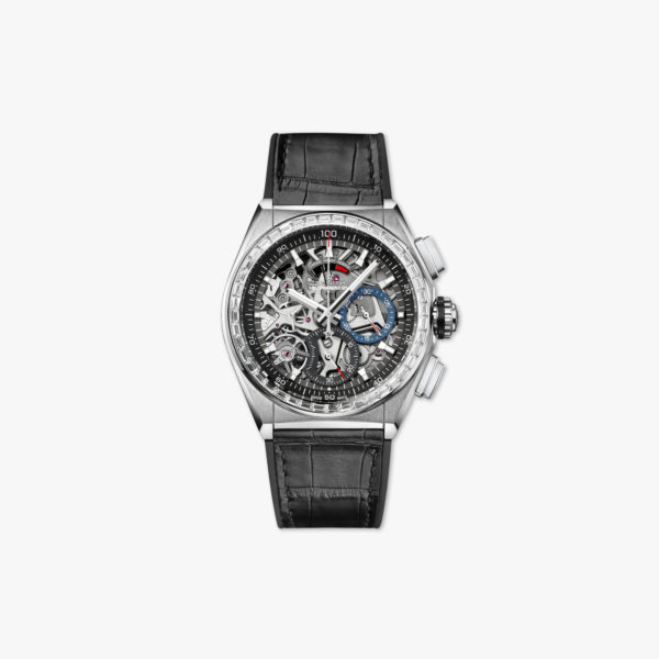 Watch Zenith Defy El Primero 21 33 9000 9004 78 R582 Titanium White Gold Diamonds Chronograph Leather Maison De Greef 1848