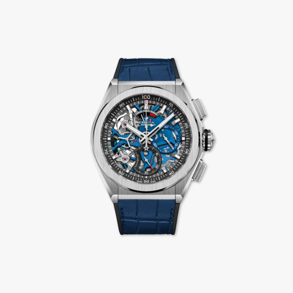 Watch Zenith Defy El Primero 21 95 9002 9004 78 R584 Titanium Blue Chronograph Leather Maison De Greef 1848