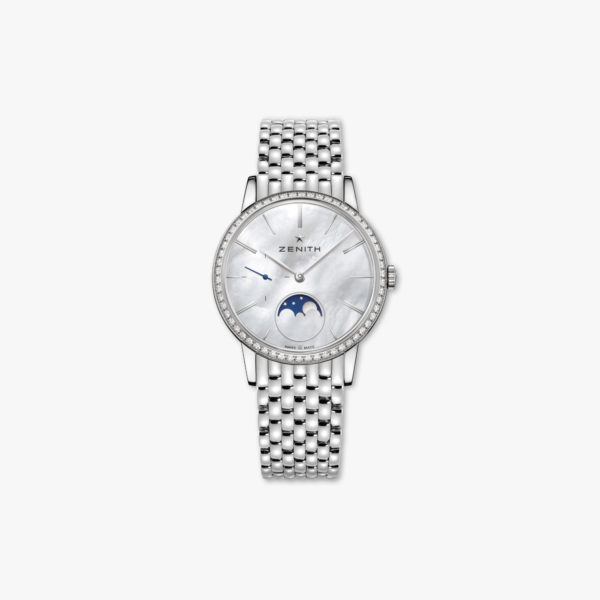 Watch Zenith Elite Lady Moonphase 36 16 2320 692 80 M2320 Steel Diamonds Mother Of Pearl Maison De Greef 1848