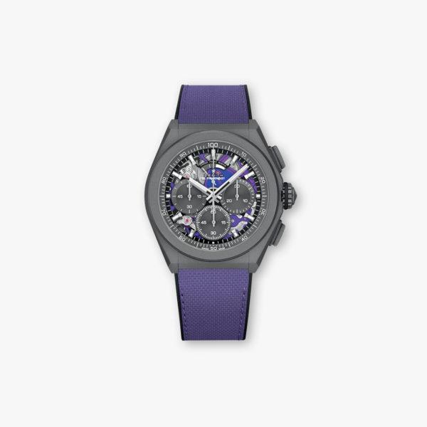Zenith Defy El Primero 21 Ultraviolet 97 9001 900480 R922 Front